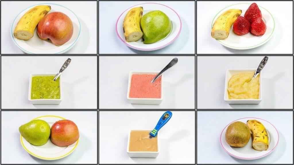 Cách làm hoa quả cho bé ăn dặm